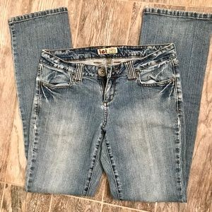 Lei-Ashely Ultra Low-Rise Jeans
